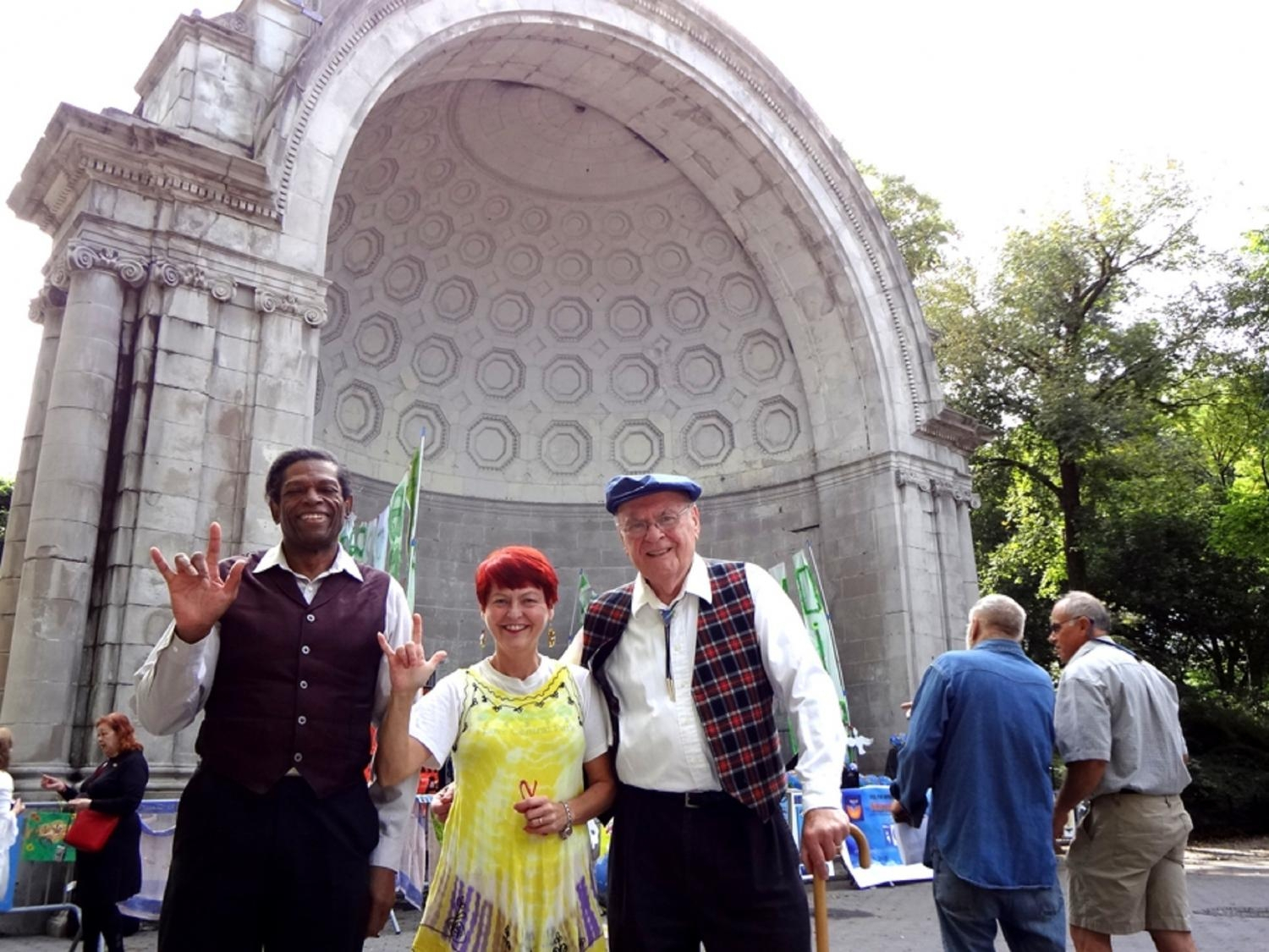 Gerald Small, Leslie Fanelli, William Dembaugh Performing in Central Park, NYC